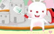 可爱小白兔 幼儿画报插画壁纸 2009 幼儿画报精美插画壁纸第四集 插画壁纸