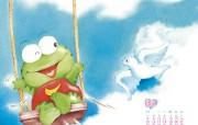 可爱动物卡通插画 儿童绘本插画 2009 幼儿画报精美插画壁纸第四集 插画壁纸