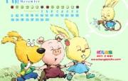 可爱动物卡通插画 幼儿画报插画壁纸 2009 幼儿画报精美插画壁纸第四集 插画壁纸