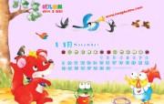 可爱红袋鼠卡通插画壁纸 2009 幼儿画报精美插画壁纸第四集 插画壁纸
