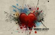 心形图片 破碎的心 爱情主题CG设计壁纸 爱的心爱情主题CG设计壁纸 插画壁纸