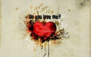 你爱我吗 爱情主题CG设计壁纸 爱的心爱情主题CG设计壁纸 插画壁纸