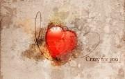 心形图片 Crazy For You 爱情主题CG设计壁纸 爱的心爱情主题CG设计壁纸 插画壁纸