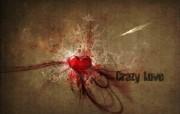 心形图片 Crazy Love 爱情主题CG设计壁纸 爱的心爱情主题CG设计壁纸 插画壁纸