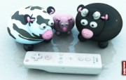Curious Cow Family for Wii Remote桌面壁纸 Archigraphs创意3D动物插画设计壁纸 插画壁纸