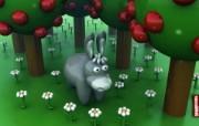 Free Donkey桌面壁纸 Archigraphs创意3D动物插画设计壁纸 插画壁纸