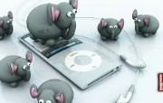 iPod Elephant Discovery桌面壁纸 Archigraphs创意3D动物插画设计壁纸 插画壁纸