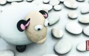 Lonely Sheep桌面壁纸 Archigraphs创意3D动物插画设计壁纸 插画壁纸