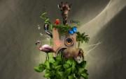 CG插画设计大杂烩 第十二辑 Music Jungle CG个性设计壁纸 插画设计大杂烩十二 插画壁纸