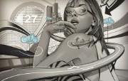 欧美风格矢量插画图片 Amazing Vector Illustration Wallpaper 超个性矢量明星插画壁纸 插画壁纸