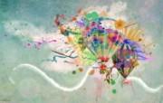 热气球 潮流个性壁纸 潮流另类 PS 人物壁纸 插画壁纸