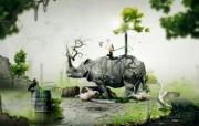 动物元素创意设计壁纸 1920 1200 创意CG设计壁纸 插画壁纸