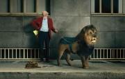 狮子宠物 创意动物PS壁纸 创意无限趣味动物篇 插画壁纸
