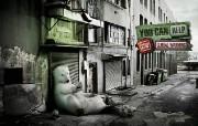 北极熊 防止全球暖化创意壁纸 创意无限趣味动物篇 插画壁纸