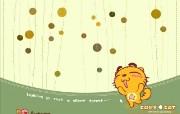烤猫四季系列 秋 幽静的树林 桌面壁纸 Copy Cat 烤猫卡通壁纸 插画壁纸