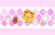 Copy Cat 甜蜜系列 咒文桌面壁纸 Copy Cat 烤猫卡通壁纸 插画壁纸