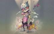 猫 个性风格插画壁纸 俄罗斯 Miriam Moshinsky 插画壁纸 插画壁纸