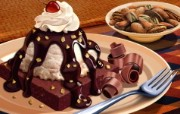 丰盛美食 美食主题电脑绘画 甜品插画 美食主题CG绘画壁纸 1920 1200 丰盛美食美食主题电脑绘画 插画壁纸