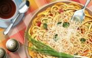 丰盛美食 美食主题电脑绘画 意大利面图片 美食主题插画壁纸 1920 1200 丰盛美食美食主题电脑绘画 插画壁纸