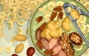 丰盛美食 美食主题电脑绘画 坚果仁 美食主题电脑绘画壁纸 1920 1200 丰盛美食美食主题电脑绘画 插画壁纸