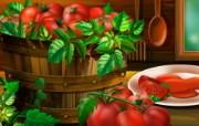 丰盛美食 美食主题电脑绘画 番茄插画 美食主题电脑绘画壁纸 1920 1200 丰盛美食美食主题电脑绘画 插画壁纸