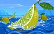 丰盛美食 美食主题电脑绘画 柠檬 美食主题电脑绘画壁纸 1920 1200 丰盛美食美食主题电脑绘画 插画壁纸