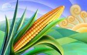丰盛美食 美食主题电脑绘画 玉米插画 美食主题CG绘画壁纸 1920 1200 丰盛美食美食主题电脑绘画 插画壁纸