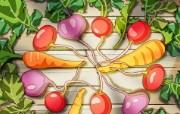 丰盛美食 美食主题电脑绘画 蔬菜 美食主题电脑绘画壁纸 1920 1200 丰盛美食美食主题电脑绘画 插画壁纸