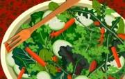 丰盛美食 美食主题电脑绘画 蔬菜沙拉图片 美食主题插画壁纸 1920 1200 丰盛美食美食主题电脑绘画 插画壁纸
