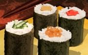 丰盛美食 美食主题电脑绘画 寿司插画 美食主题电脑绘画壁纸 1920 1200 丰盛美食美食主题电脑绘画 插画壁纸