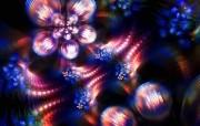 纯数学产物 分形艺术花卉 抽象视觉花卉壁纸 分形艺术创作壁纸三 插画壁纸