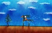 高清晰Vladstudio 壁纸 三 创意可爱插画篇 马与树 Vladstudio 创意可爱壁纸 高清晰Vladstudio 壁纸三创意插画篇 插画壁纸