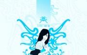 个性女孩插画桌面 Vector Art Vector Illustration 个性女孩矢量风格插画壁纸 插画壁纸