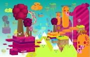 色彩缤纷的矢量卡通插画 Giorgos 古怪可爱矢量卡通壁纸 插画壁纸