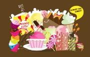 彩色糖果 古怪可爱矢量插画 Giorgos 古怪可爱矢量卡通壁纸 插画壁纸