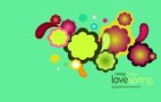 Love Spring 色彩缤纷的矢量插画 Giorgos 古怪可爱矢量卡通壁纸 插画壁纸