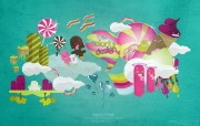 Colorful Design 色彩缤纷的矢量卡通插画 Giorgos 古怪可爱矢量卡通壁纸 插画壁纸