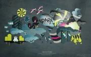Dark Design 个性矢量插画壁纸 Giorgos 古怪可爱矢量卡通壁纸 插画壁纸