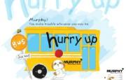 韩国AURORA卡通系列murphy小狗 插画壁纸
