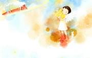 韩国插画名家 Webjong 甜美女孩插画 三 韩国Webjong可爱小女孩插画 韩国插画名家Webjong 甜美女孩插画三 插画壁纸