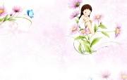 韩国插画名家 Webjong 甜美女孩插画 三 Webjong 清新可爱小女孩插画 韩国插画名家Webjong 甜美女孩插画三 插画壁纸
