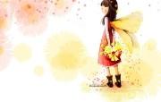 韩国插画名家 Webjong 甜美女孩插画 三 Webjong 可爱小女孩壁纸 韩国插画名家Webjong 甜美女孩插画三 插画壁纸