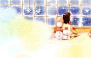 韩国插画名家 Webjong 甜美女孩插画 三 窗外 Webjong可爱小女孩插画 韩国插画名家Webjong 甜美女孩插画三 插画壁纸