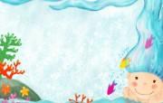 韩国插画童趣涂鸦 插画壁纸
