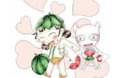 韩国卡通壁纸 Desktop Wallpaper of Cartoon characters 韩国 character block 卡通形象 插画壁纸