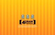 韩国卡通壁纸 4crain 韩国 4crain 卡通形像设计 Desktop Wallpaper of Cartoon character 韩国卡通壁纸4crain 插画壁纸