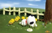韩国卡通壁纸 古惑狗MONK 韩国卡通古惑狗MONK Desktop Wallpaper of Funny Cartoon Dog 韩国卡通壁纸古惑狗MONK 插画壁纸