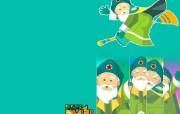 韩国卡通壁纸 Magic Kid 魔法校园 韩国卡通魔法校园 Desktop Wallpaper of Cartoon Magic Kid 韩国卡通壁纸Magic Kid 魔法校园 插画壁纸