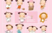 日本卡通壁纸 之 MRK卡通形象 MRK可爱卡通女孩壁纸 Desktop wallpaper of MRK Cartoon Girls 韩国卡通壁纸MRK卡通形象 插画壁纸