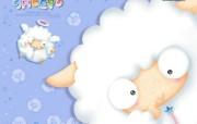 韩国卡通复制羊sheepo壁纸 插画壁纸